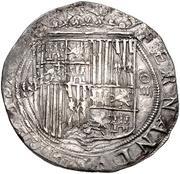 4 reales Ferdinand et Isabelle Séville – avers