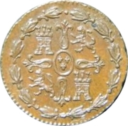 1 maravedi Ferdinand VII – revers