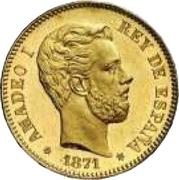 25 pesetas Amédée Ier -  avers