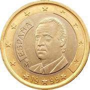 1 euro Juan Carlos I (1ère carte) -  avers
