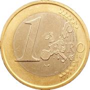 1 euro Juan Carlos I (1ère carte) -  revers