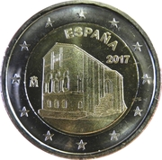 2 euros Églises du Royaume des Asturies -  avers