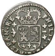 1 maravedi Philippe V Valence – avers