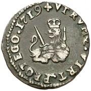 1 maravedi Philippe V Valence – revers