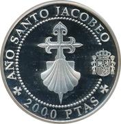2000 pesetas Croix et coquille Saint-Jacques -  revers