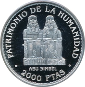 2000 pesetas Abu Simbel -  avers