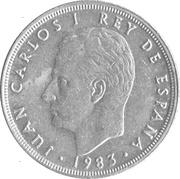 5 pesetas Juan Carlos I M couronné -  avers