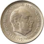 5 pesetas Franco -  avers