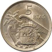 5 pesetas Franco -  revers