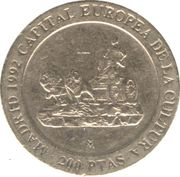 200 pesetas Madrid capitale européenne de la culture -  revers