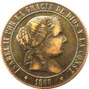 5 centimos de escudo Isabelle II -  avers