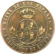 5 centimos de escudo Isabelle II -  revers