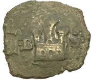 2 maravedis Philippe II (bas billon; légende en castillan) – avers