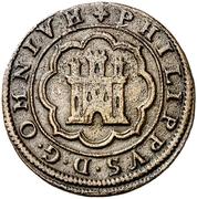 4 maravedis Philippe II Ségovie – avers