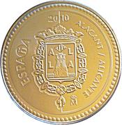 5 euros Alicante -  avers