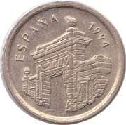 5 pesetas Aragon -  avers
