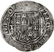 2 reales Ferdinand et Isabelle Tolède – avers