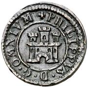 1 maravedi Philippe II Ségovie – avers