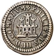 2 maravedis Philippe III Ségovie frappe au balancier billon – avers