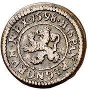 2 maravedis Philippe III Ségovie frappe au balancier billon – revers
