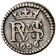1 maravedi Philippe III monogramme – avers