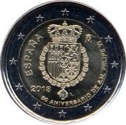 2 euros Anniversaire de Felipe VI -  avers