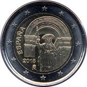 2 euros Saint-Jacques-de-Compostelle -  avers