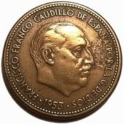 2½ pesetas Franco -  avers