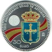 30 euros Prince des Asturies -  revers
