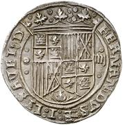 4 reales Ferdinand et Isabelle Burgos – avers