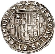 2 reales Ferdinand et Isabelle Burgos – avers