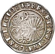 2 reales Ferdinand et Isabelle Burgos – revers
