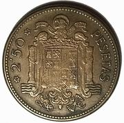 2½ pesetas Franco -  revers