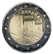 2 euros Ávila -  avers