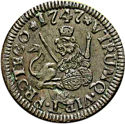 1 maravedi Ferdinand VI Ségovie – revers