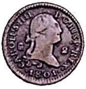 2 maravedis Charles IV – avers