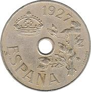 25 centimos Alphonse XIII -  avers