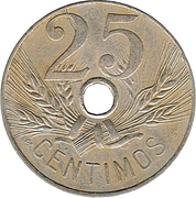 25 centimos Alphonse XIII -  revers