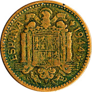 1 peseta -  avers