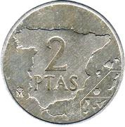 2 pesetas Juan Carlos I -  revers