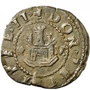 2 maravedis Philippe II Corogne billon bas grade – avers
