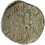 2 maravedis Philippe II Corogne billon bas grade – revers