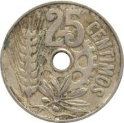 25 centimos République -  revers