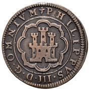 4 maravedis Philippe III Ségovie frappe au balancier – avers