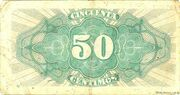 50 centimos - Matrona republica – revers