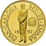 40 000 pesetas Frappe -  avers