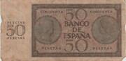 50 Pesetas -  revers