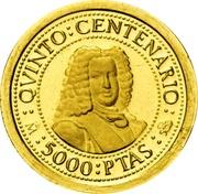 5000 pesetas Ferdinand VI -  avers