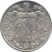 5 centimos Cavalier ibérique -  revers