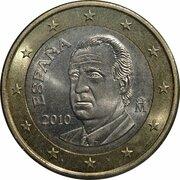 1 euro Juan Carlos I (2e carte, 2e type) -  avers